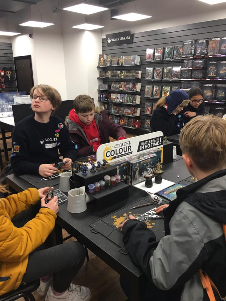 Sea Scouts Manchester Store Visits – Apple, Library and Warhammer 2019
